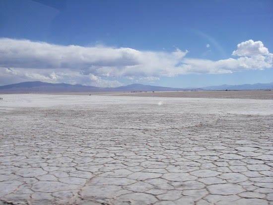 """Salt flats before you arrive in Argentina"""