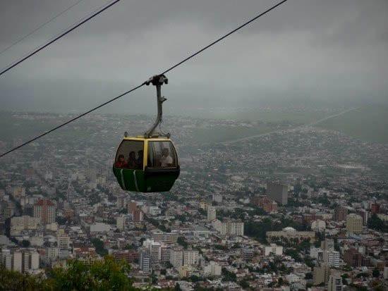 """Mount San Bernardo cable car"""