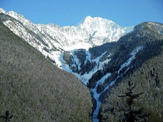 """Huge avalanche chutes"""