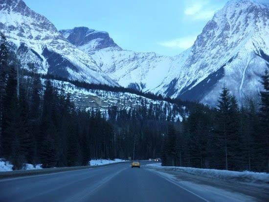 """More big mountain scenery - heading towards Field"""