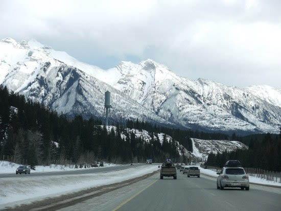 """Scenery east of Banff'"