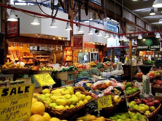 """Inside Granville Island market"""