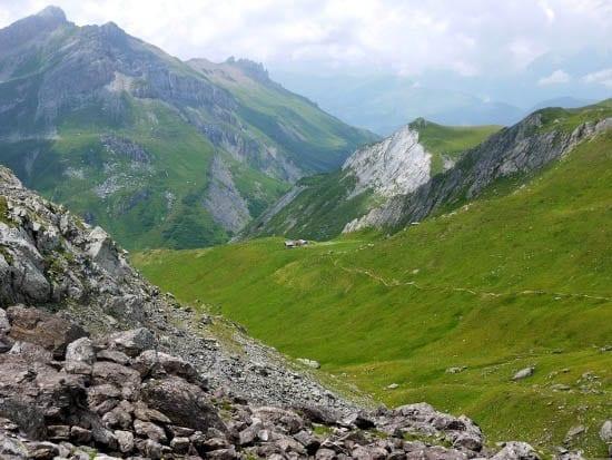 """Scenery between the Col du Bonhomme and the Col de la Croix"""