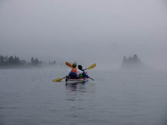 """Kayaking through Michipicoten Island's famous fog"""