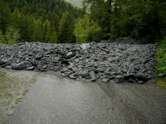 """""""Landslide on the Tour du Mont Blanc - near La Fouly"""""""