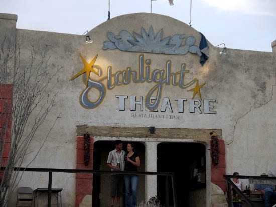 """Starlight Theatre - a good place for dinner in Terlingua"""