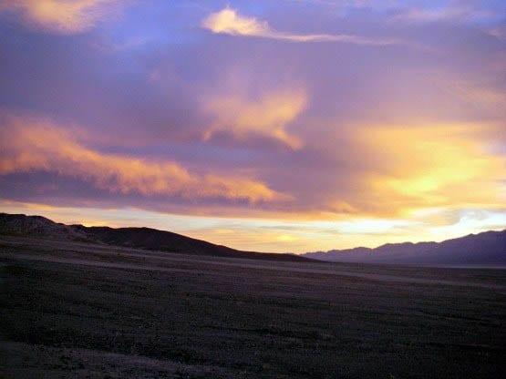 """Sunset in Death Valley"""