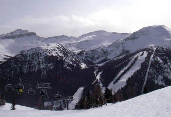 """The ski hill at Lake Louise"""