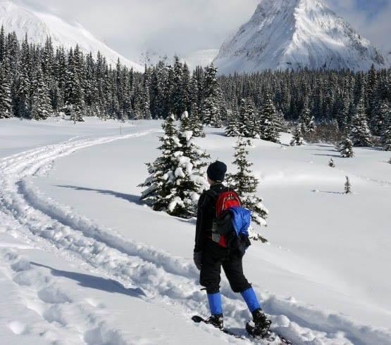 """Snowshoeing to Chester Lake, Kananaskis Country"""
