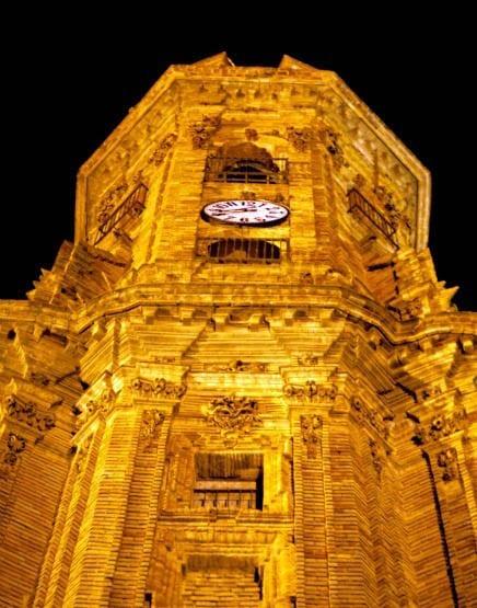 """San Sebastian church at night"""