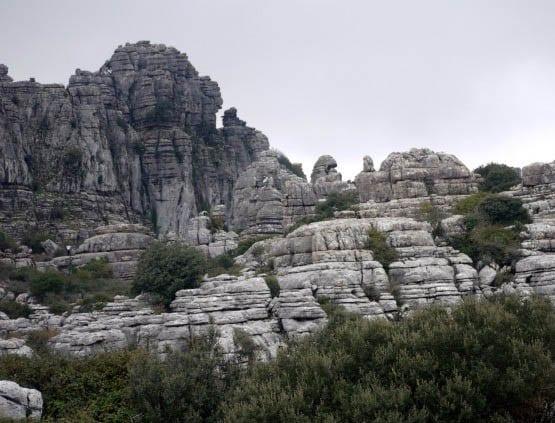 """Bizarre rock formations in El Torcal"""