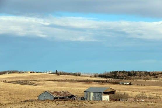 """Farm country south of Calgary"""