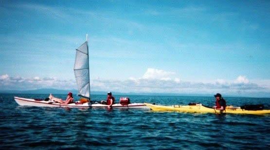 """Kayaking off the coast of Belize"""