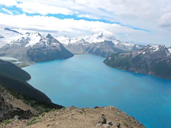 The view of Garibaldi Lake from the Panorama Ridge Trail