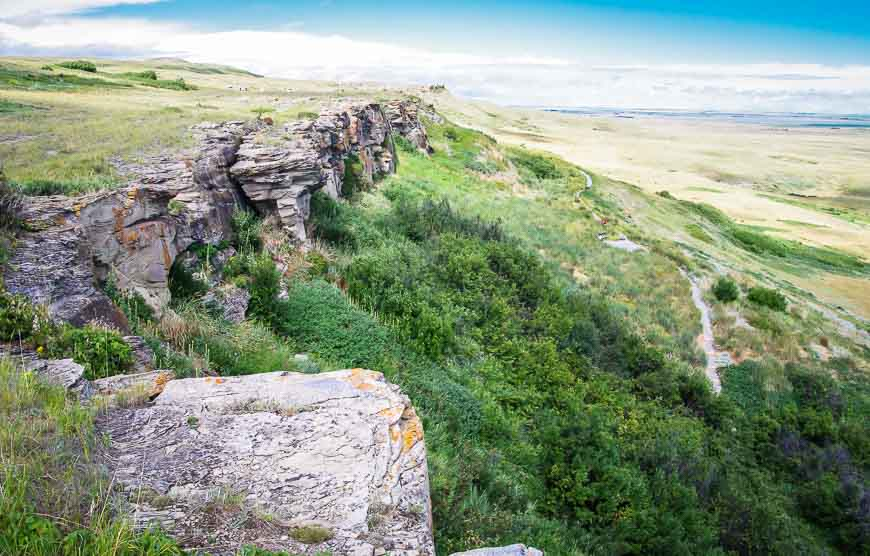 Beautiful scenery around head Smashed In Buffalo Jump