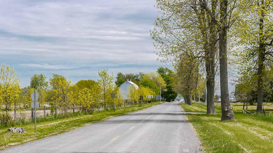 Biking Wolfe Island is on quiet roads