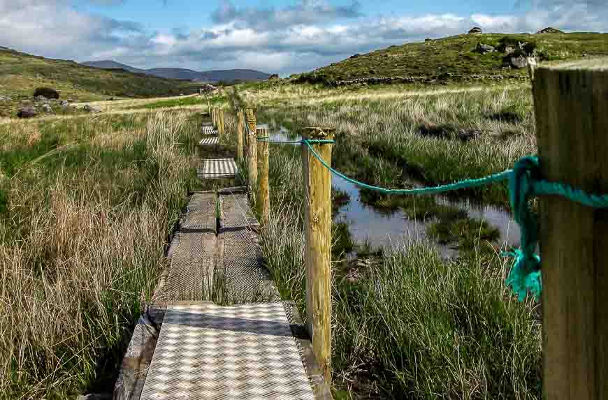 Keeping feet dry with these boardwalks
