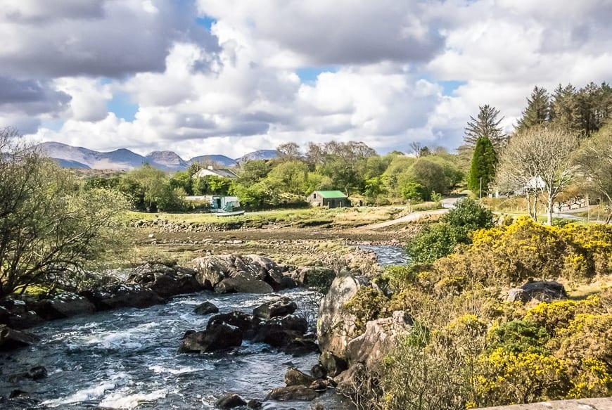 Gorgeous country on the way to climb Mweelrea Mountain