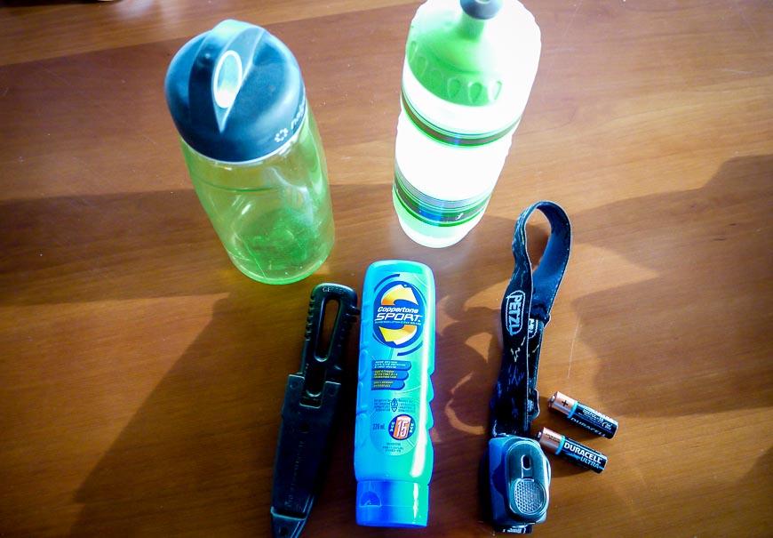 Long distance walk packing list