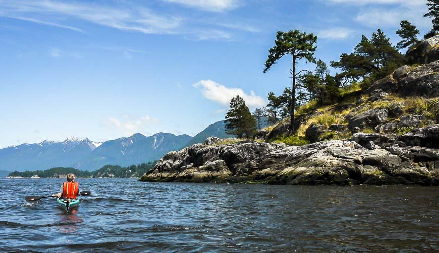 Kayaking Passage Island