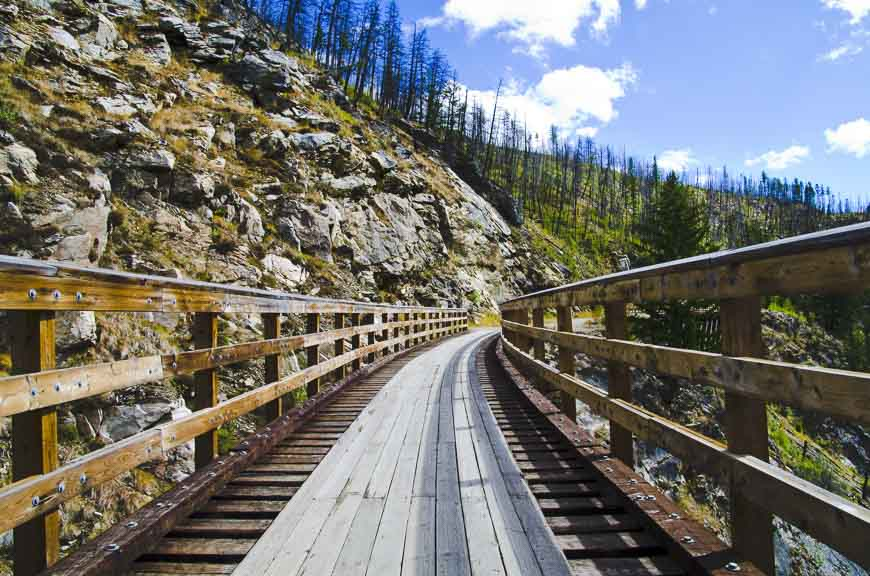Trestles in Myra Canyon