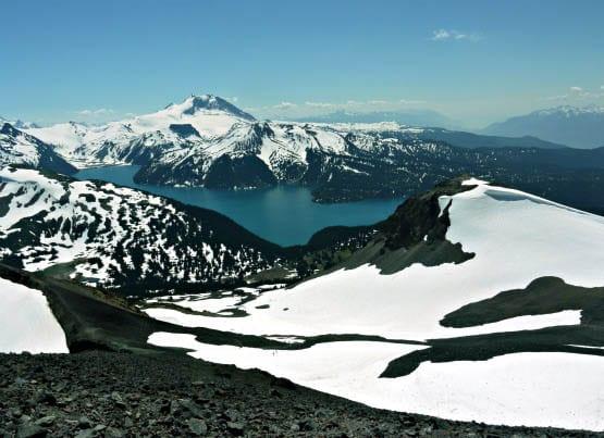 """View of Garibaldi Lake from the Black Tusk"""