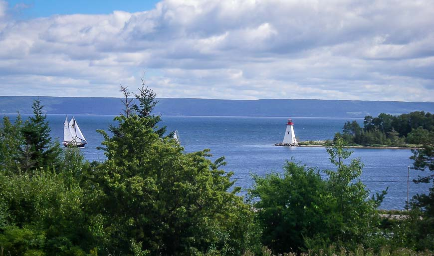 Looking out to the water in Baddeck
