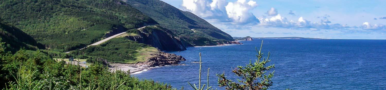 The Cabot Trail on Cape Breton Island