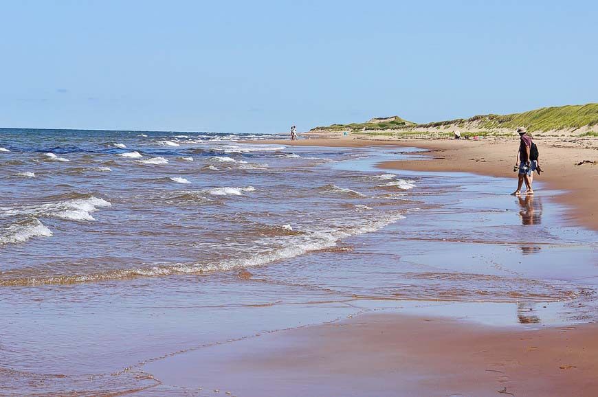 Uncrowded beaches in PEI