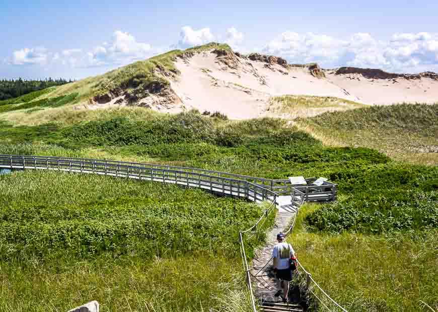Parabolic sand dunes