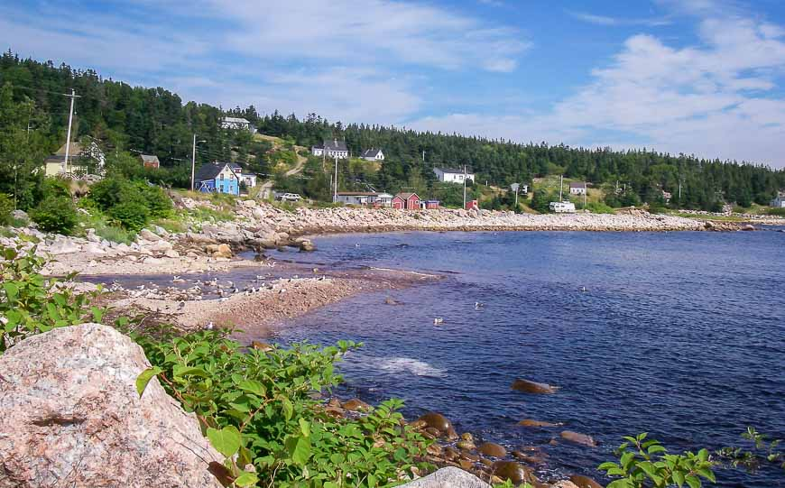 Beautiful scenery on the east coast of the Cabot Trail