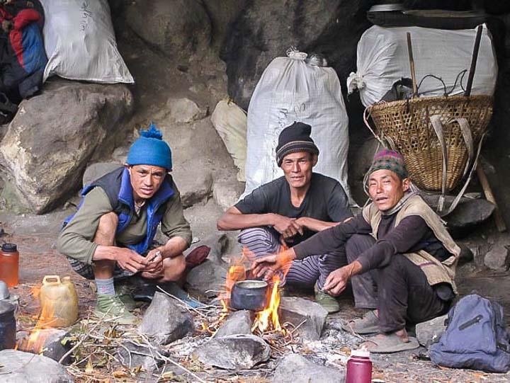 Porters on our Mt Everest basecamp trek