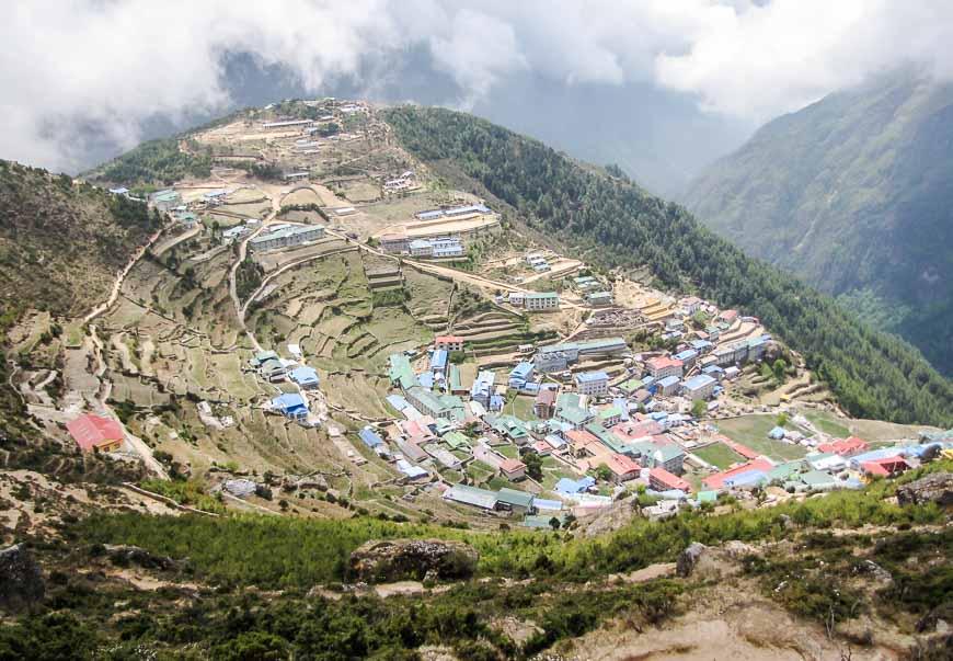 Phenomenal mountain scenery on the Mt Everest Basecamp trek