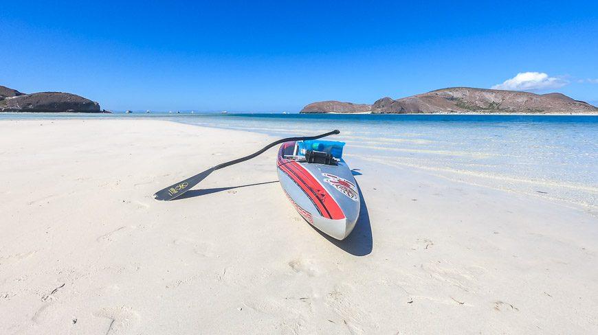 Stunning white sand beaches in Baja Mexico