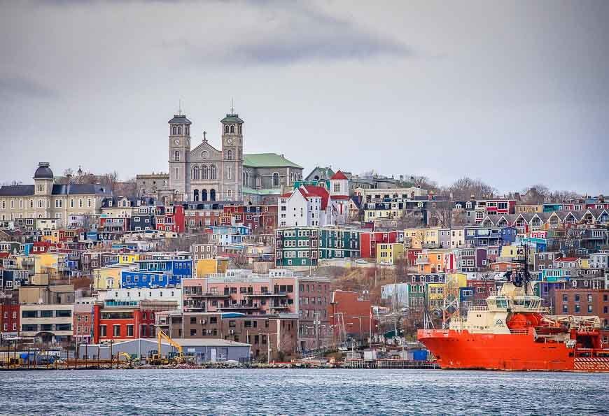 The colours of St. Johns Newfoundland