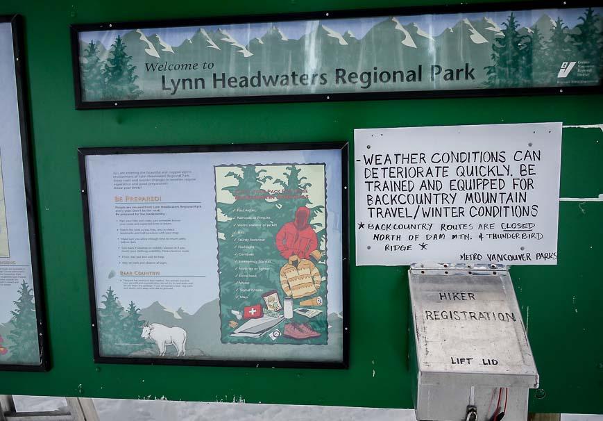 Hiker-snowshoer registration