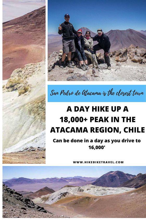 A day hike up an 18,000' plus beak - Volcano Toco - near San Pedro de Atcama, Chile