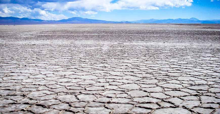 Salt flats before you arrive in Argentina