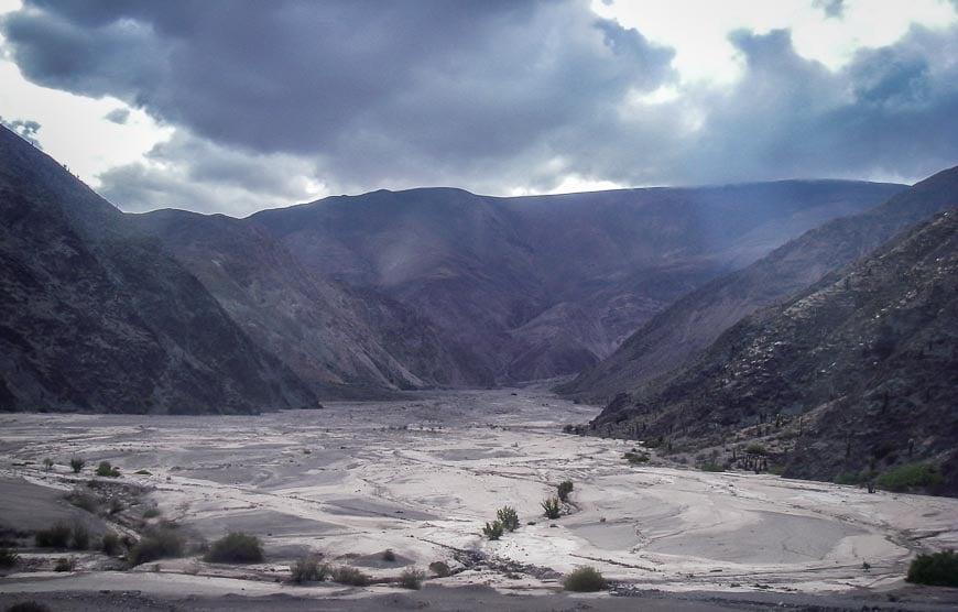 Huge flood plain