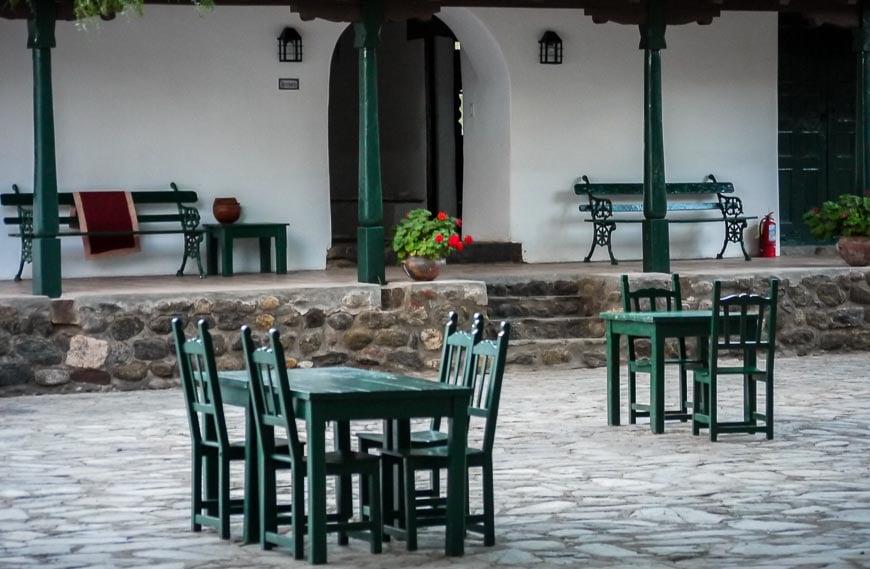 Courtyard at the Hacienda de Molinos