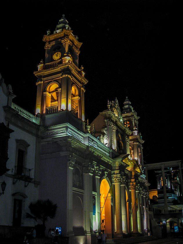 Cathedral Basilica In Salta's Main Square