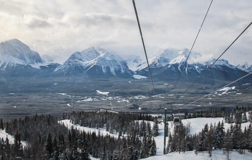 Views from the gondola at Lake Louise