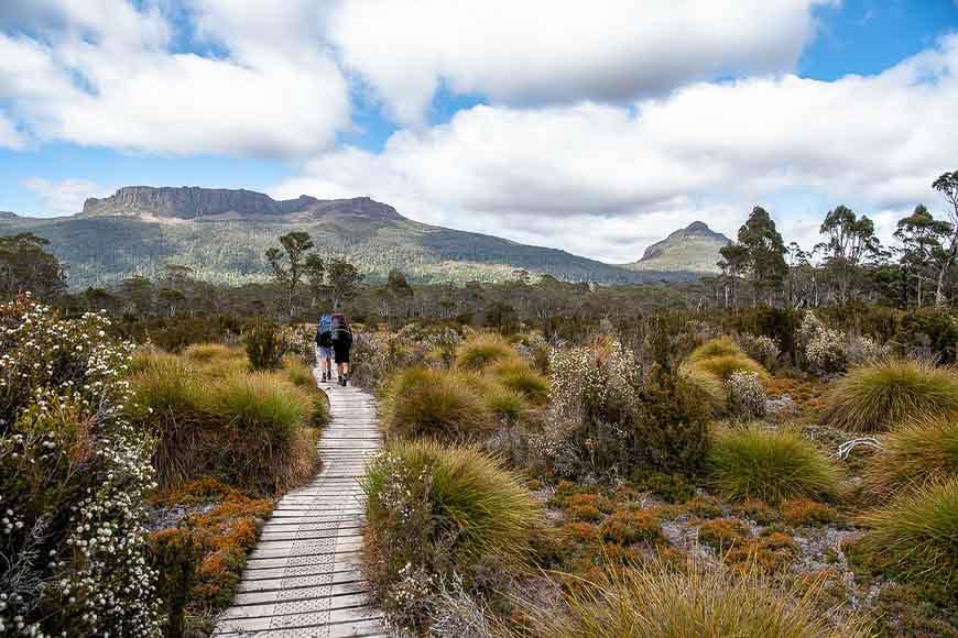 The stunning Overland Track in Tasmania