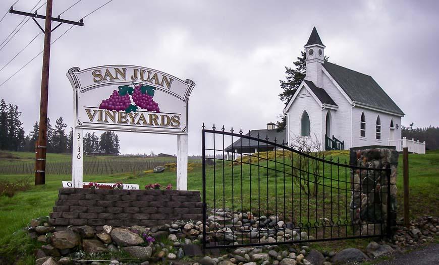 The winery on San Juan Island
