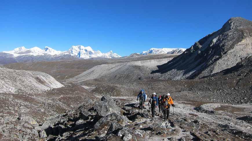 Mountain scenery on the Snowman trek in Bhutan