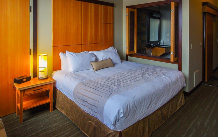 Room in the lodge at Sunshine Village Ski Resort