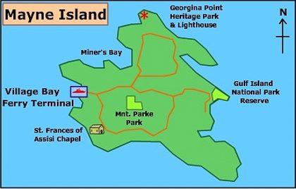 Mayne Island map