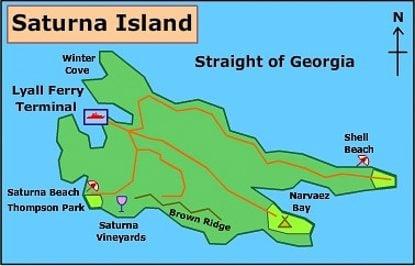 Saturna Island map
