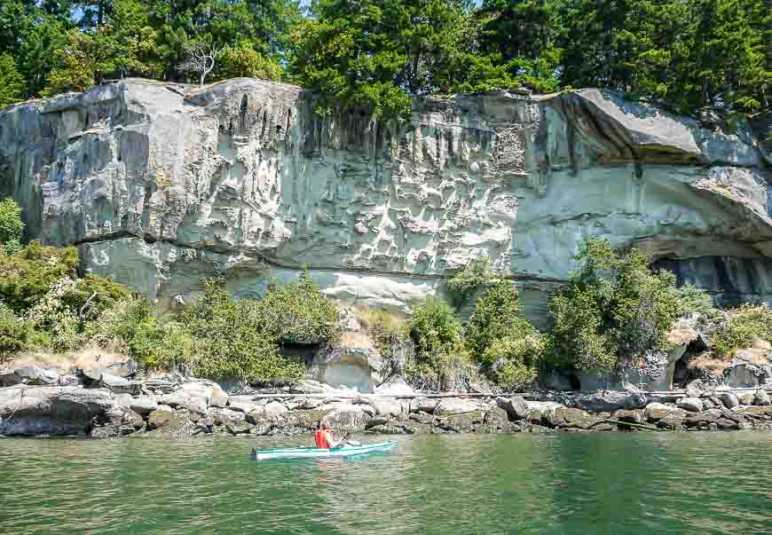 Kayaking To Blackberry Point, Valdes Island