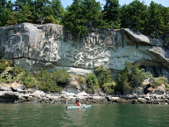 Kayaking To Blackberry Point Valdes Island